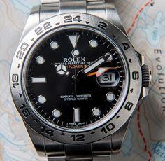 Up Close and Personal: ROLEX EXPLORER II 216570 BLACK 42MM.