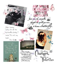 """""""Butterflies"""" by maryanacoolstyles ❤ liked on Polyvore"""