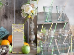 Love the twine & straws on the jars!