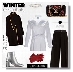 """""""Winter Essentials"""" by finley-shirts-2017 on Polyvore featuring Weekend Max Mara, Gucci, Tory Burch and Cartier Winter Essentials, Max Mara, Get The Look, Cartier, Polyvore Fashion, Tory Burch, Outfit Ideas, Gucci, Shirts"""