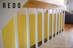 Baby Safety For Stair Railings Fabric Weaved Through