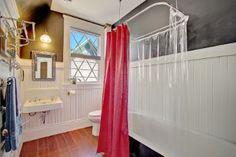Bathroom. Paint color, train rack. Historic N Everett Area Residential