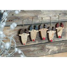 renne en bois, décoration, à suspendre, décoration noel,