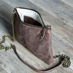 Jean Lorent Mocha Leather Cross Body Bag