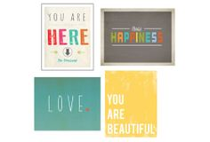 Happiness Collection | Refresh the Family Wall | One Kings Lane