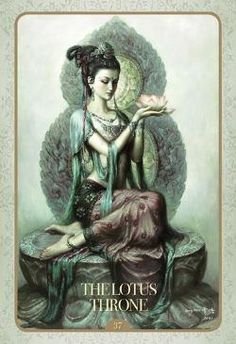 "Buddhist goddess of mercy: Quan Yin (also spelled Kwan Yin, Kuanyin; in pinyin, Guanyin). In Sanskrit, her name is Padma-pâni, or ""Born of the Lotus. Sacred Feminine, Divine Feminine, Goddess Of Love, Indian Goddess, Earth Goddess, Divine Goddess, Mother Goddess, Green Goddess, Wow Art"