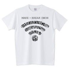 Wi-Fi/ペイズリー(黒) | デザインTシャツ通販 T-SHIRTS TRINITY(Tシャツトリニティ)