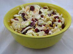 Voedselzandloper-proof: Salade van rauwe witlof met cranberries en walnoot...lekker met gemarineerde kipfilet