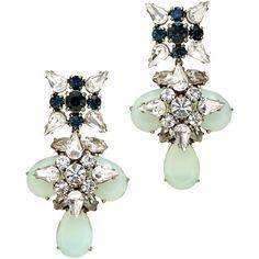 J.Crew Blue grotto crystal earrings $110