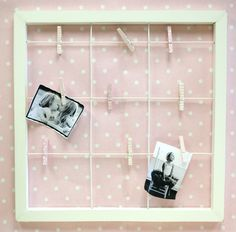this photo clip frame would be so cute in a little girl's room