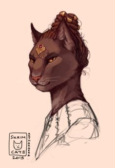 Fantasy Races, Fantasy Rpg, Fantasy Artwork, Character Portraits, Character Art, Dungeons And Dragons Classes, Elder Scrolls Games, Dnd Races, Anime Furry