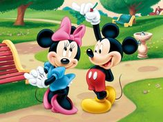 Mickey Mouse and Minnie Mouse both had their first appearance in what cartoon?