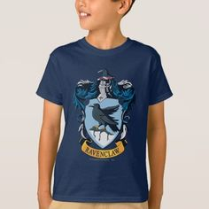 Ravenclaw Crest T-Shirt - tap, personalize, buy right now! Harry Potter Universal, Ravenclaw, Fitness Models, Names, Casual, Cow, Sleeves, Cotton, Mens Tops