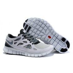Women Nike Free Run 2 Shoes Light Gray Black