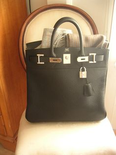 #Hermes HAC 40 in black Clemence