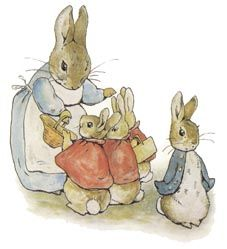 Illustration from the Tale of Peter Rabbit, Beatrix Potter. My favorite illustration of hers. I love Peter with his hands in his pockets.