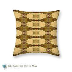 Desert Cactus throw pillow. Multiple sizes. More pillows at: ElizabethCopeMay.com
