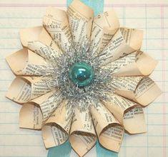 paper wreath ornament - Google Search