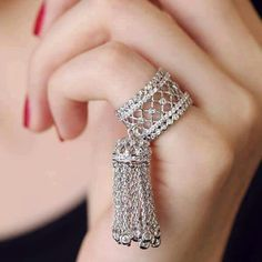 Big Wedding Crystal Tassel Ring Baroque Jewelry for Women Luxury Brand European Fashion Drop Dangle Finger Anillos anel feminino Hand Jewelry, Jewelry Rings, Jewelry Accessories, Women Accessories, Tassel Jewelry, Rhinestone Jewelry, Stylish Jewelry, Fashion Jewelry, Luxury Jewelry