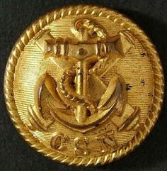 Confederate navy coat button