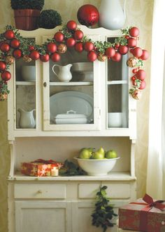Love this country swag using glass ornaments. Country Home