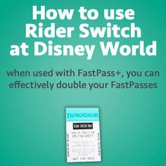How to use Rider Switch at Disney World