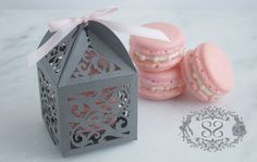 Wedding Favors French Macaron Favor Opulent Wedding Ornate Favor Box and French Macaroon Diy Wedding Favors, Bridal Shower Favors, Wedding Ideas, Party Favors, Wedding Crafts, Wedding Designs, Wedding Decorations, Wedding Inspiration, Macaron Favors