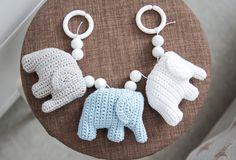 virkattu vaunulelu norsu Crochet Baby, Knit Crochet, Baby Accessories, Baby Love, Crochet Blogs, Knitting, Crafts, Handmade, Diy