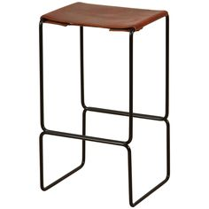 Leather Counter Stool by Ten10 | 1stdibs.com