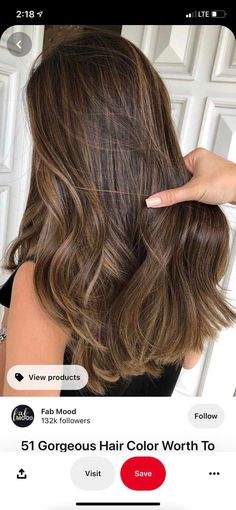 Babylights Brunette, Dark Brunette Balayage Hair, Brown Hair With Blonde Highlights, Brown Hair Looks, Light Brown Hair, Light Hair, Celebrity Hair Colors, Gorgeous Hair Color, Hair Color And Cut