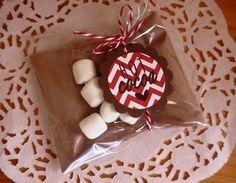 6 Hot Chocolate Favors Hot Cocoa Wedding Favor Christmas Gift Edible Favor Stocking Stuffers Winter Wedding Favor Christmas Party Favor. $15.00, via Etsy.