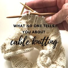What No One Tells You About Cable Knitting