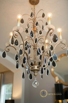 Love this chandelier from Amanda Eck dining room