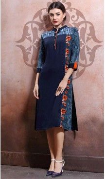 Party Wear Straight Cotton Readymade Tops in Navy Blue Color | FH525779549 #kurtis , #kurtas , #tunic , #top , #fashion , #clothing , #women , #heenastyle , #ladies , @heenastyle  , #teenagers , #girls , #style , #mode , #mehendi , #diwali #utsavfashion , #fashion , #boutique , #online , #colors , #dresses , #christmas , #party , #dresses , #shopping , #sequin , #peplum , #xmas , #outfit , #black , #red , #colors , #collection , #novelty , #print, #themed , #2016 , #stunning , #swing