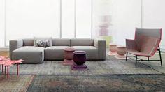 Latest sofa designs: Moroso Sofa designed by Patricia Urquiola | Modern Sofas #modernsofas #sofasdesign #sectionalsofa