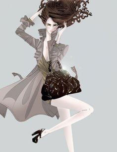 The fashion drawings of Michael Sanderson