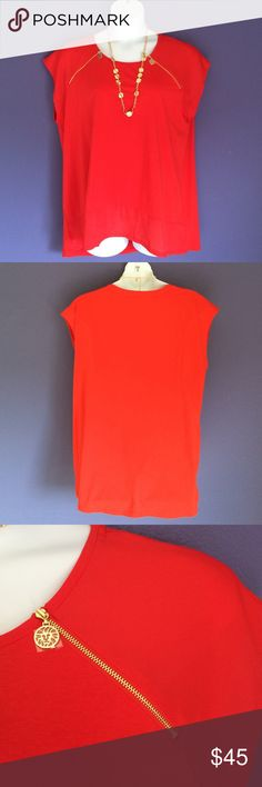 """New Listing Anne Klein Orange Blouse This beautiful blouse will make you feel good!the bright color stands out with white or black.  Perfect top for any occasion.  Material:  55% Cotton/40% Modal/5% Elastane. Measurements:  Length - 28.5%/Bust - 25"""" Anne Klein Tops Blouses"""