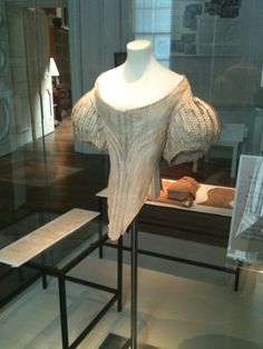 Lovely delicate silk bodice, part of the costume collection at Claydon House