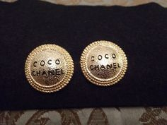 CHANEL Stud Earrings by Paolasvintageandmore on Etsy, $180.00