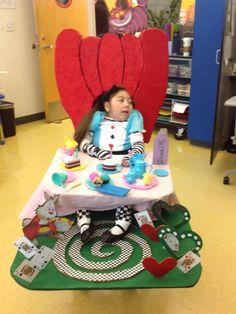 Alice in Wonderland wheelchair costume