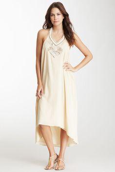 Love Sam Beaded Halter Hi-Lo Dress Size Small (S)