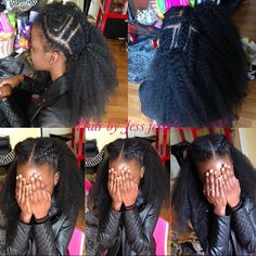 """Crochet braid méthode vixen  avec 2 paquets de mèches """" expression caribbean braid"""", possibilité de varié vos coiffures"""