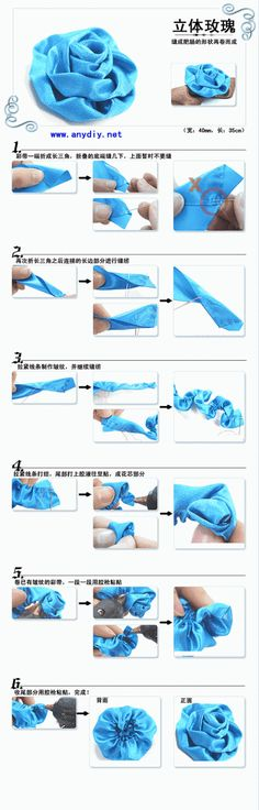 DIY Ribbon Rose