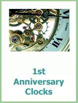 1st anniversary clocks