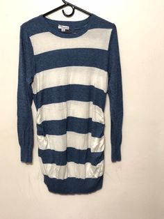 6e359c4f4f7c8 Extra Off Coupon So Cheap Liz Lange Womens Maternity Sweater Dress Size XL  Blue White Stripe Ruched