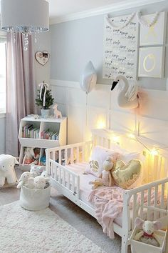Inspiration from Instagram - Julie @julie.ann.home - pastel girls room ideas, pink and grey girls room design, kidsroom decor, girls kidsroom, powder, nursery
