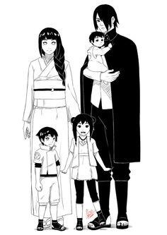 SasuHina Family ♥♥♥ Sasuke, Hinata and their kids ♥ Hinata Hyuga, Sasuke Uchiha, Naruto Gaiden, Naruto Anime, Naruto And Hinata, Naruto Cute, Naruto Funny, Naruto Girls, Naruto Family