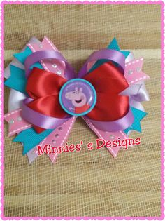 Check out this item in my Etsy shop https://www.etsy.com/listing/448571514/pegga-pig-hair-bow-pegga-pig-bow-pegga