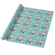 Custom Cute Characters Holiday Wrapping Paper