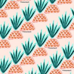 Pineapple heads!   #art #illustration #design #pattern #print #painting #colorful #fruit #pineapple #graphic #textile #surfacedesign # by theebouffants